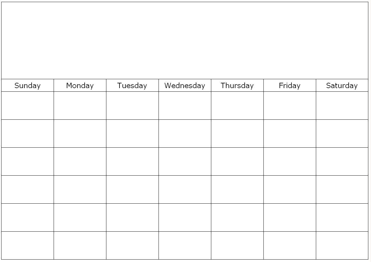 Effective Blank Monthly Calendar Page Without The Year  Free Printable Blank Monthly Calendar Templates