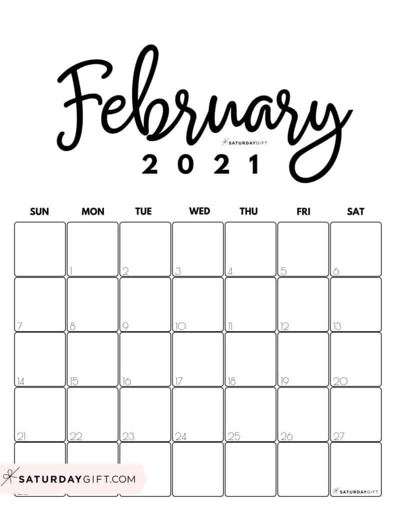 February 2021 Vertical Calendar   Printable March  February 2021 Calendar Printable