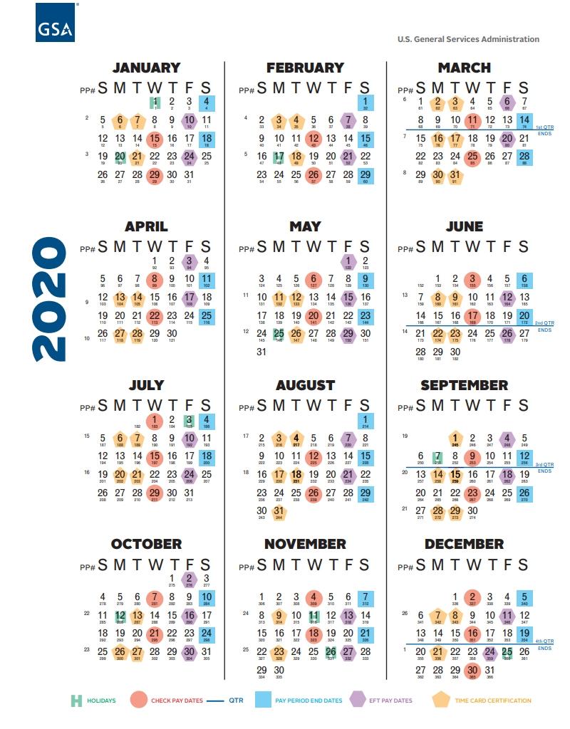 Federal Civilian Pay Periods 2020 - Calendar Inspiration  Opm Federal Pay Period Calendar 2021