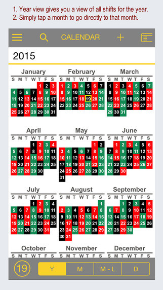 Firesync Shift Calendar - Apppicker  Color Shift Calendar