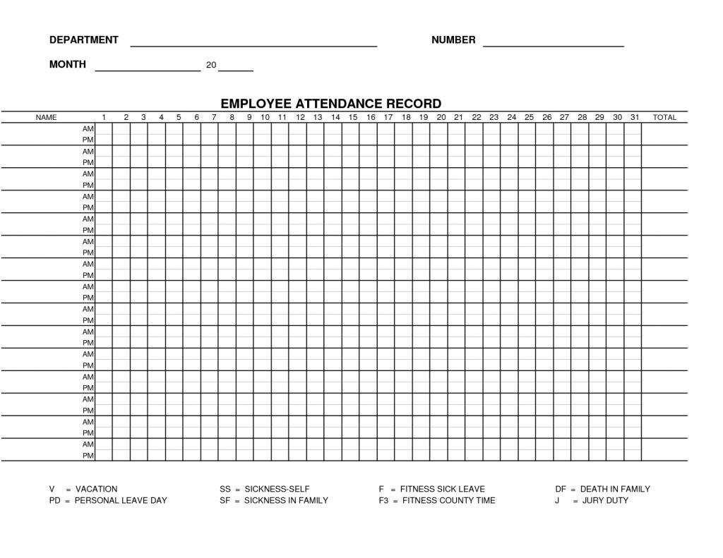 Free Attendance Sheet Pdf 2021 | Calendar Template Printable  Employee Attendance  Calendar Free Printable 2021