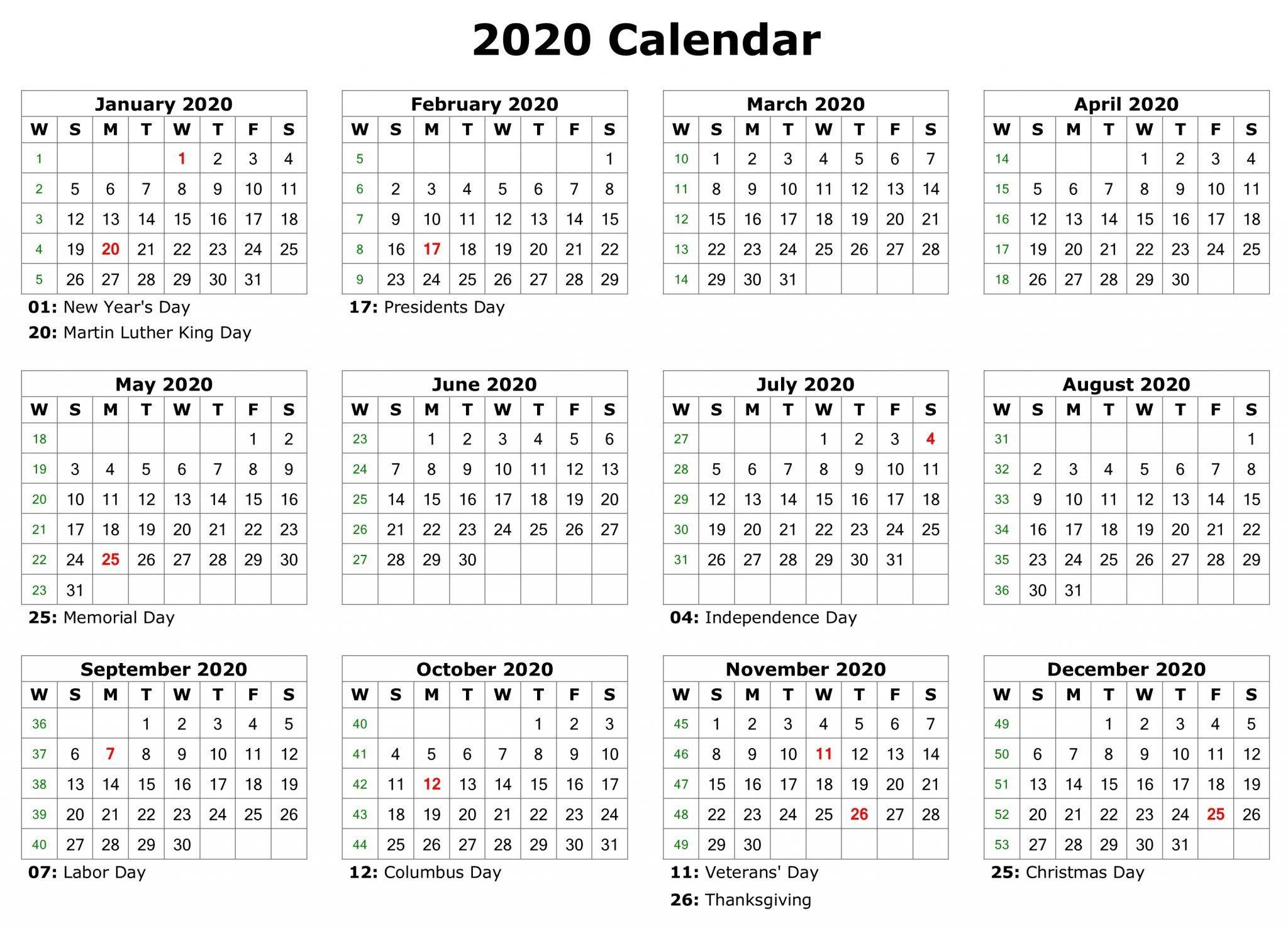 Free Editable Calendar 2020 Printable Templates   Calendar  Free Editable Calendar Templates Printable