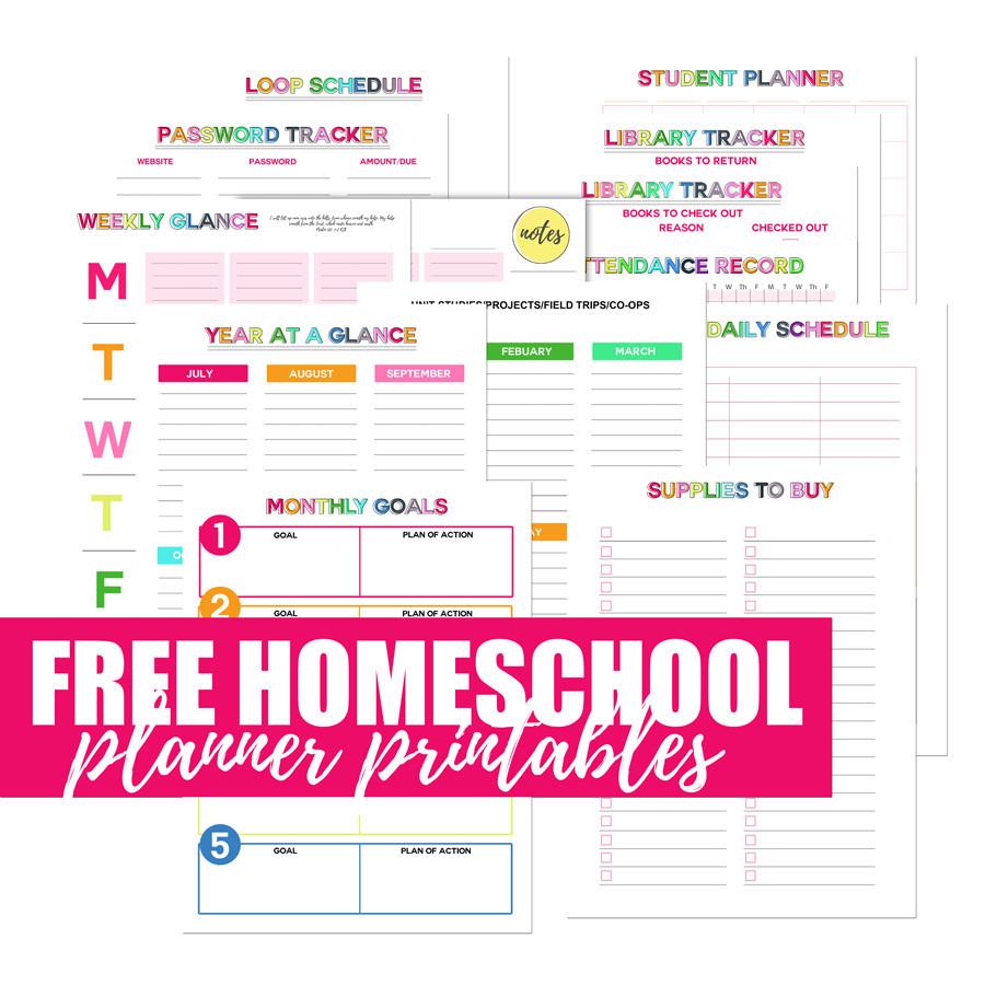Free Homeschool Planner Printables | My 2018 Homeschool  Free Printable Homeschool Daily Schedule