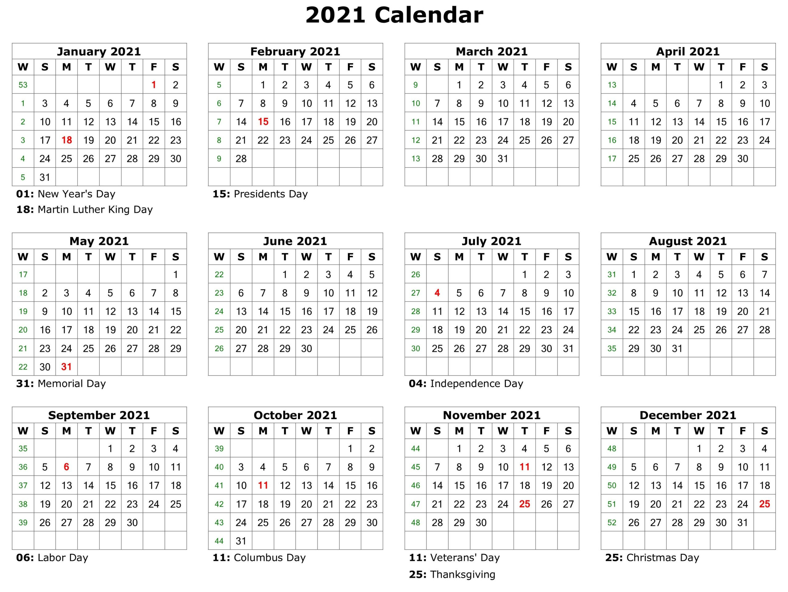 Free Print 2021 Calendars Without Downloading   Calendar  Free Printable Calendar 2021 Without Download
