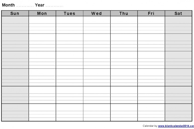 Free Printable And Editable Monthly Calendar Templates  Free Printable And Editable Weekly Calendar