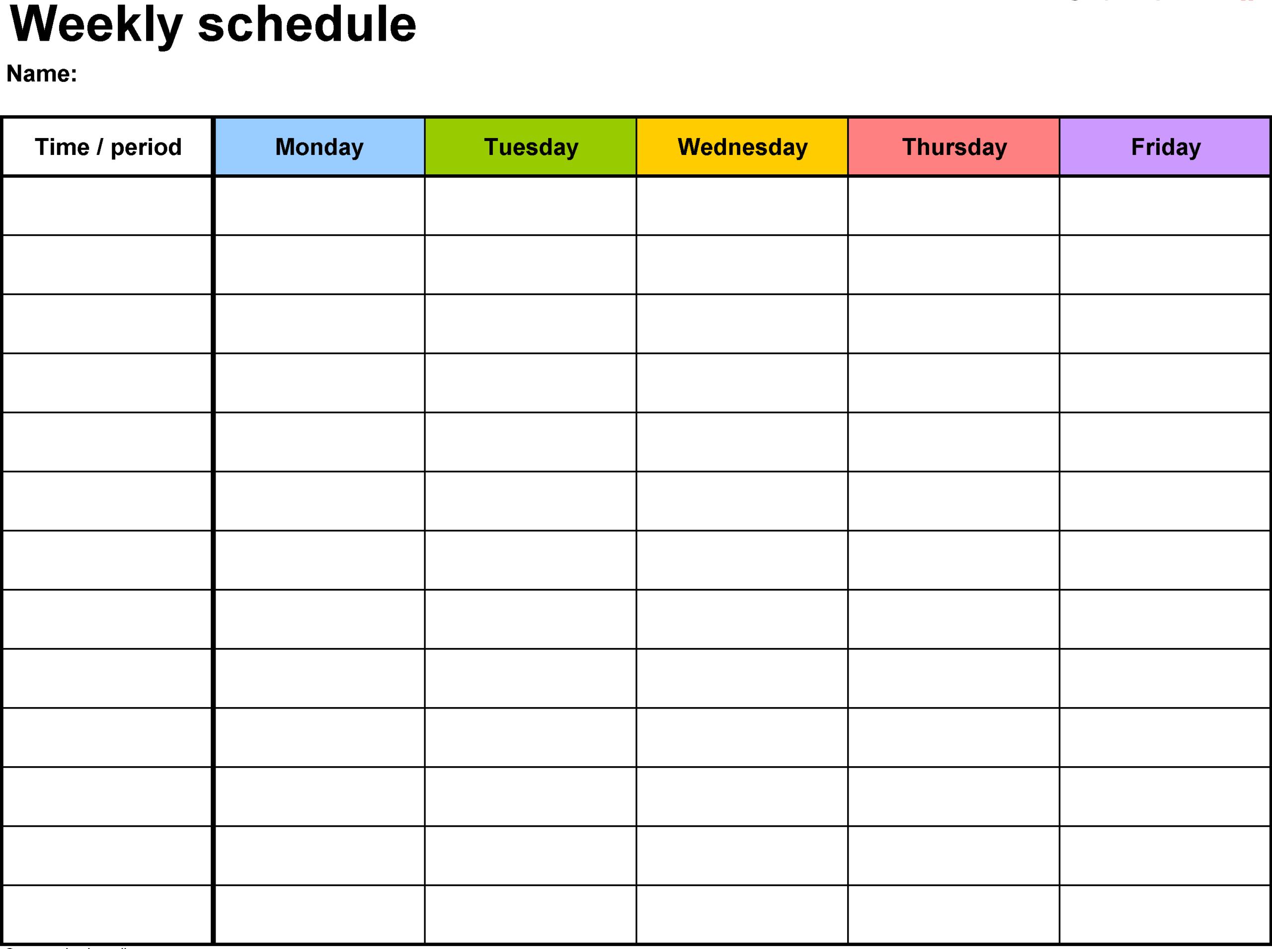 Free Printable Calendar With Time Slots   Calendar  Printable Calendar With Time