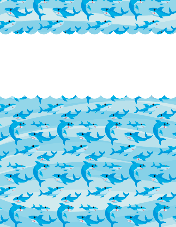 Free Printable Shark Binder Cover Template. Download The  Front Page Of Water Challenge Template Free