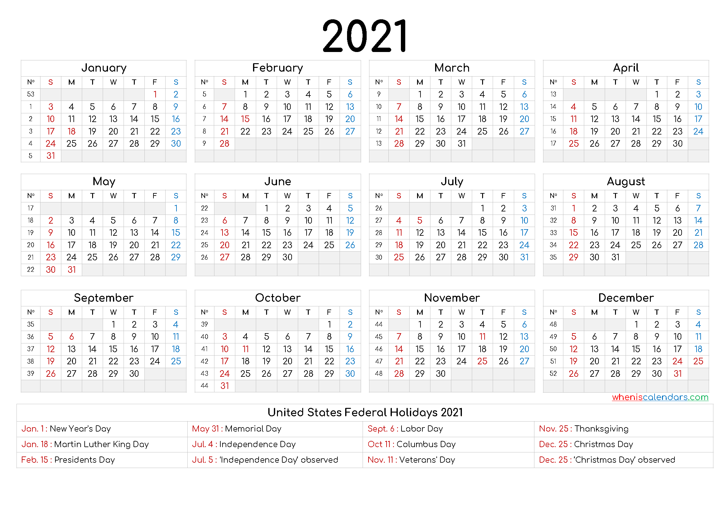 Free Printable Yearly Calendar 2021 And 2022 And Further  Julian Calendar 2021 2021 Free Printable