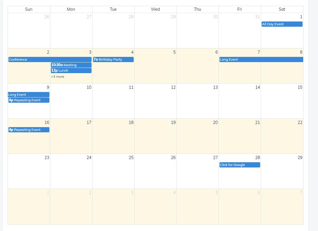 Javascript - Fullcalendar Two-Shift Calendar, Coloring  Color Shift Calendar