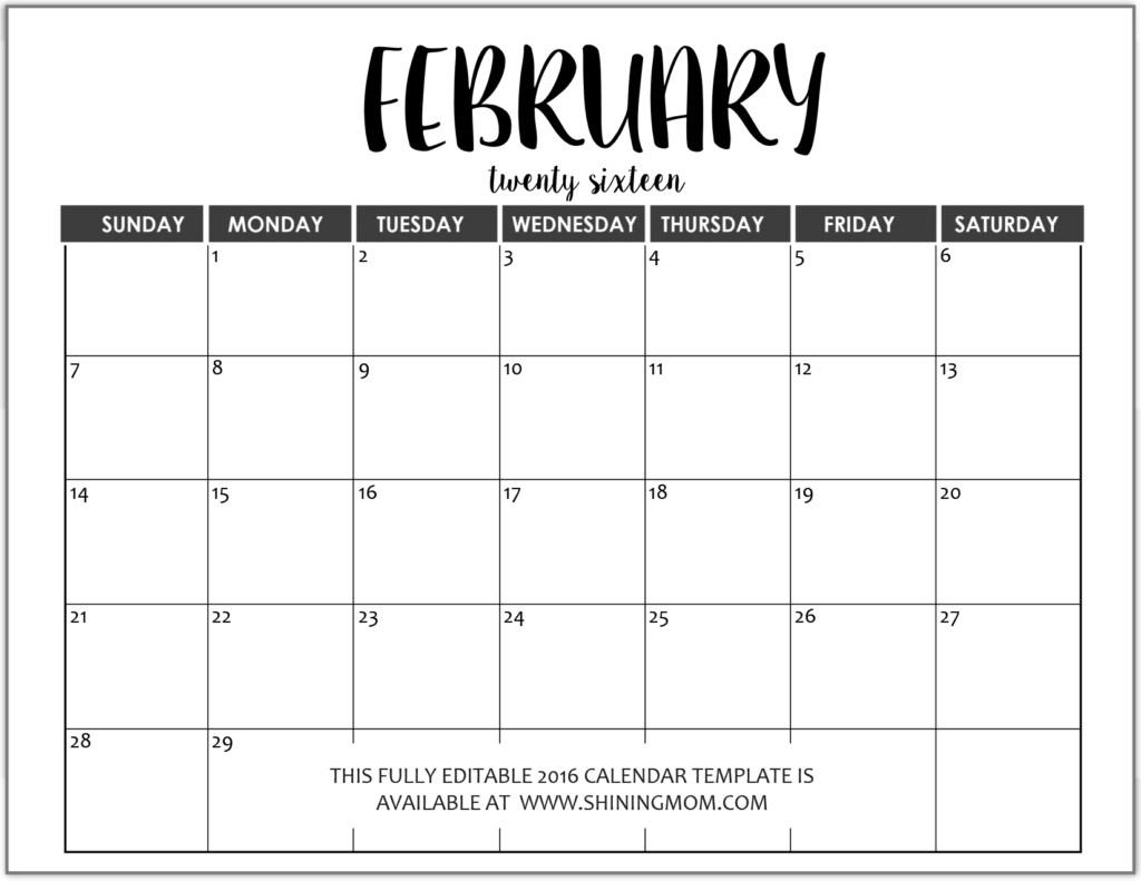 Large Box Printable Calendar 2020 Google - Calendar  Free Editable Calendar Templates Printable