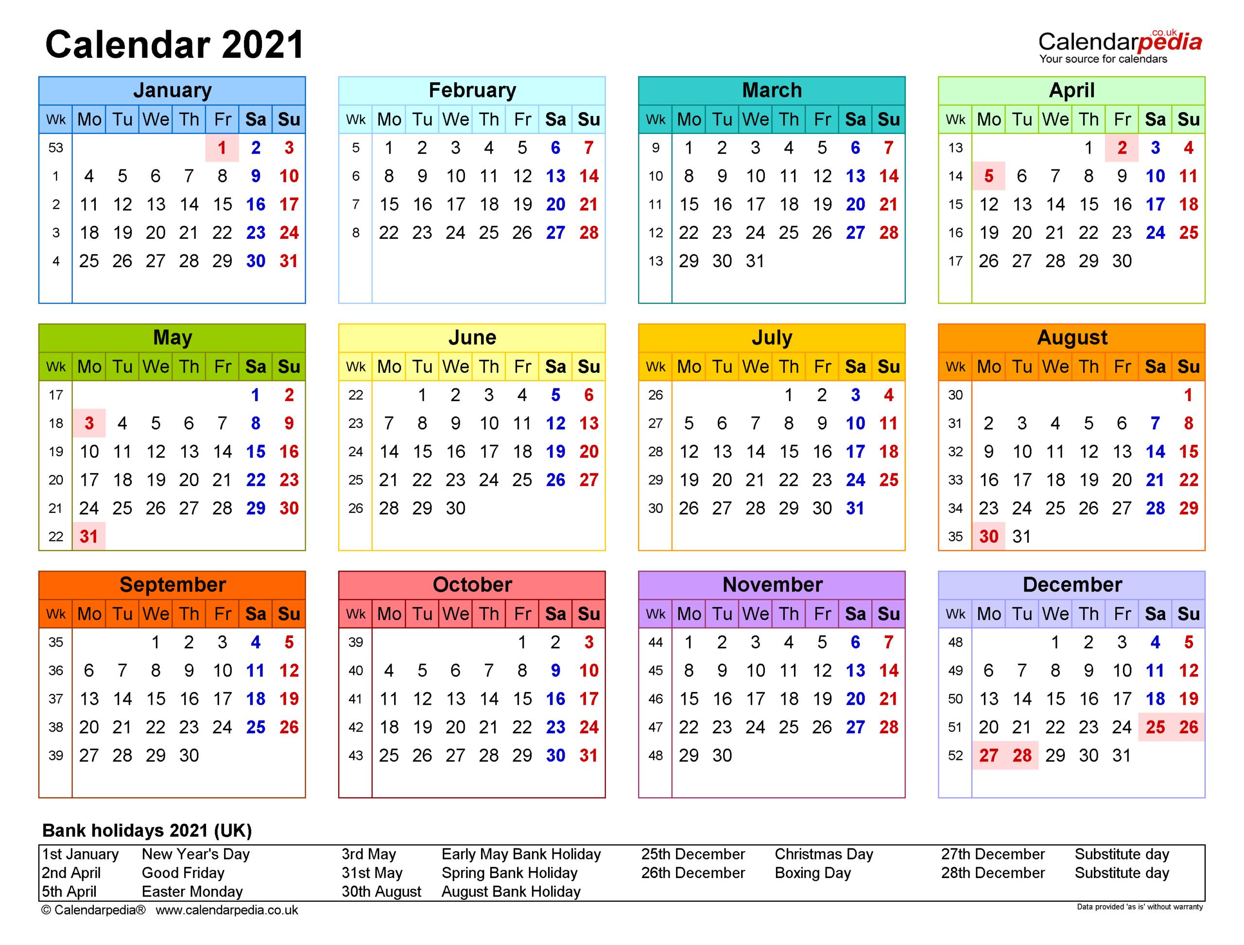 Large Calendar 2021 Printable | Calendar Printables Free  Julian Calendar 2021 2021 Free Printable