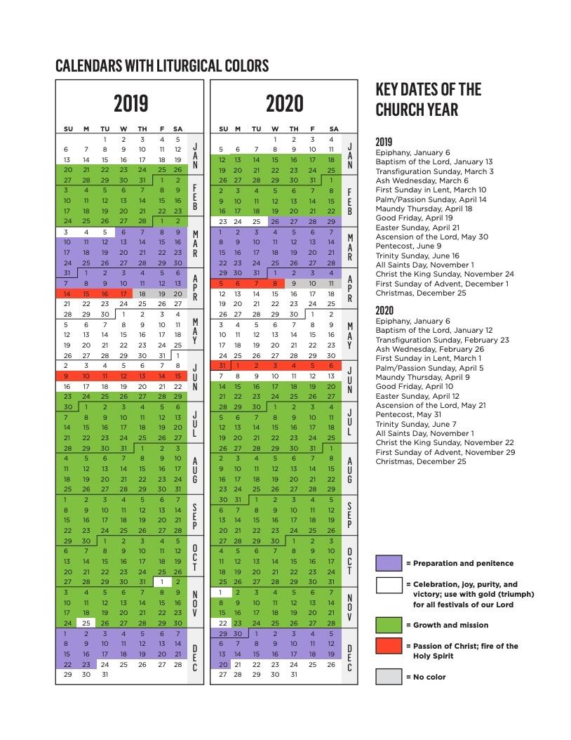 Liturgical Calendar 2020 Pdf Lutheran - Calendar  Episcopal Liturgical 2021 Calendar Printable