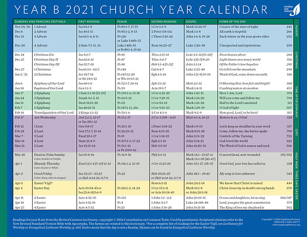 Methodist Liturgical Calendar 2021   Calendar 2021  Official Methodist Calandar