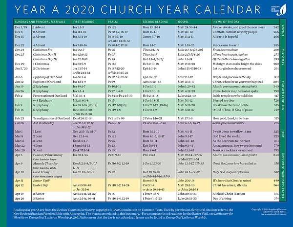 Methodist Parament Colors Image | Calendar Template 2020  Www. United Methodist Church - Weekly Calendar