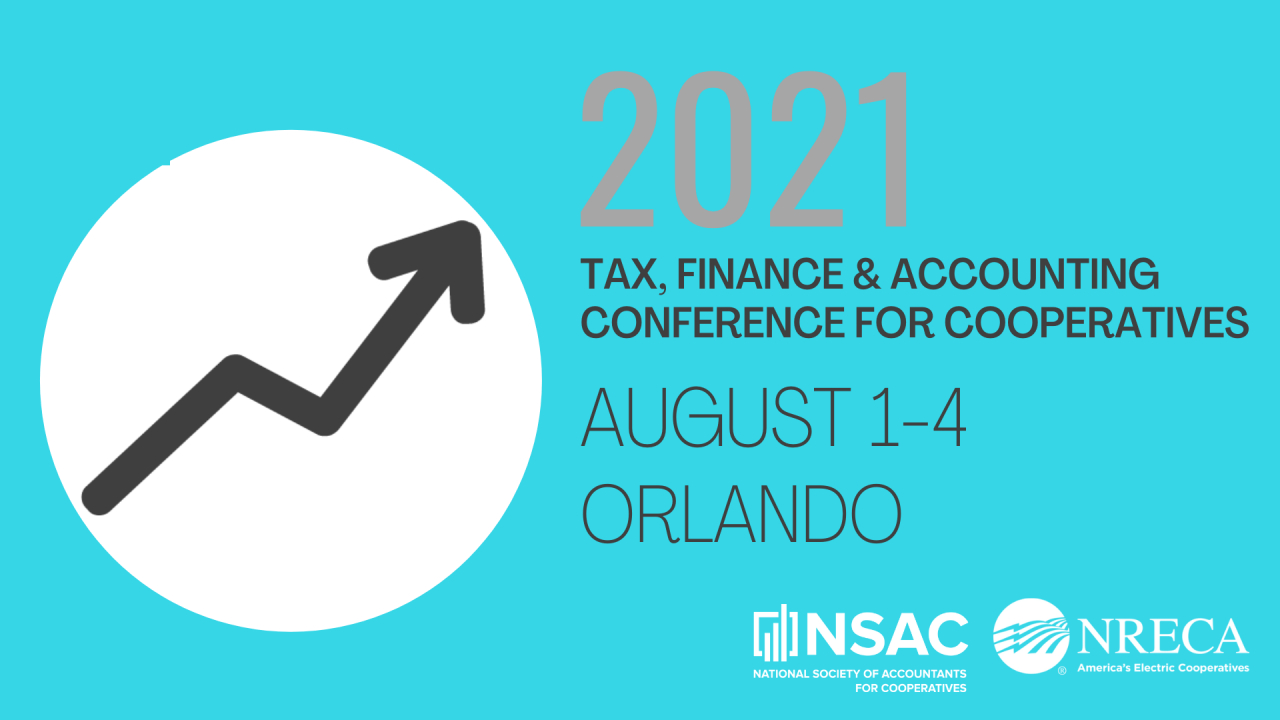 National Society Of Accountants For Cooperatives (Nsac)  2021 Tax Week Numbers