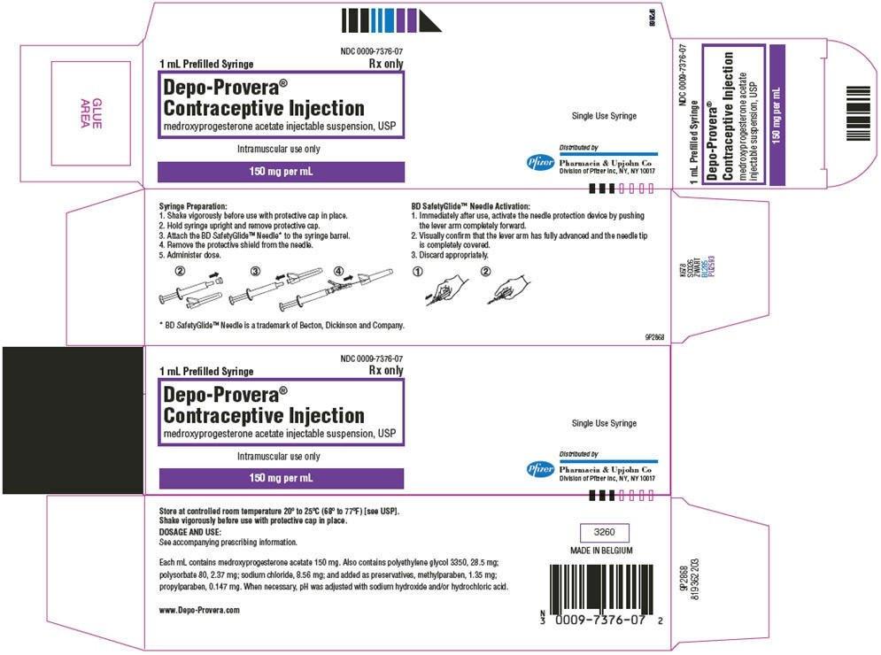 Ndc 0009-7376 Depo-Provera Medroxyprogesterone Acetate For  Depro Provera Ndc 2021