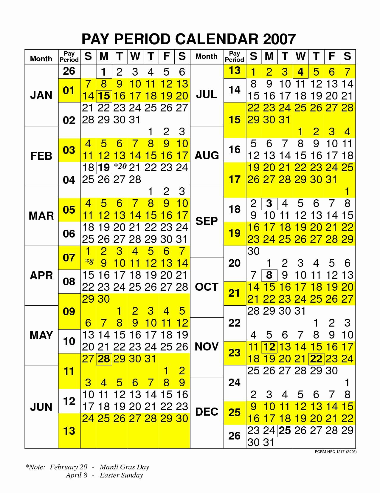 Nfc Payroll Calendar 2020 | Payroll Calendar 2021  Federal Government Pay Period Calendar