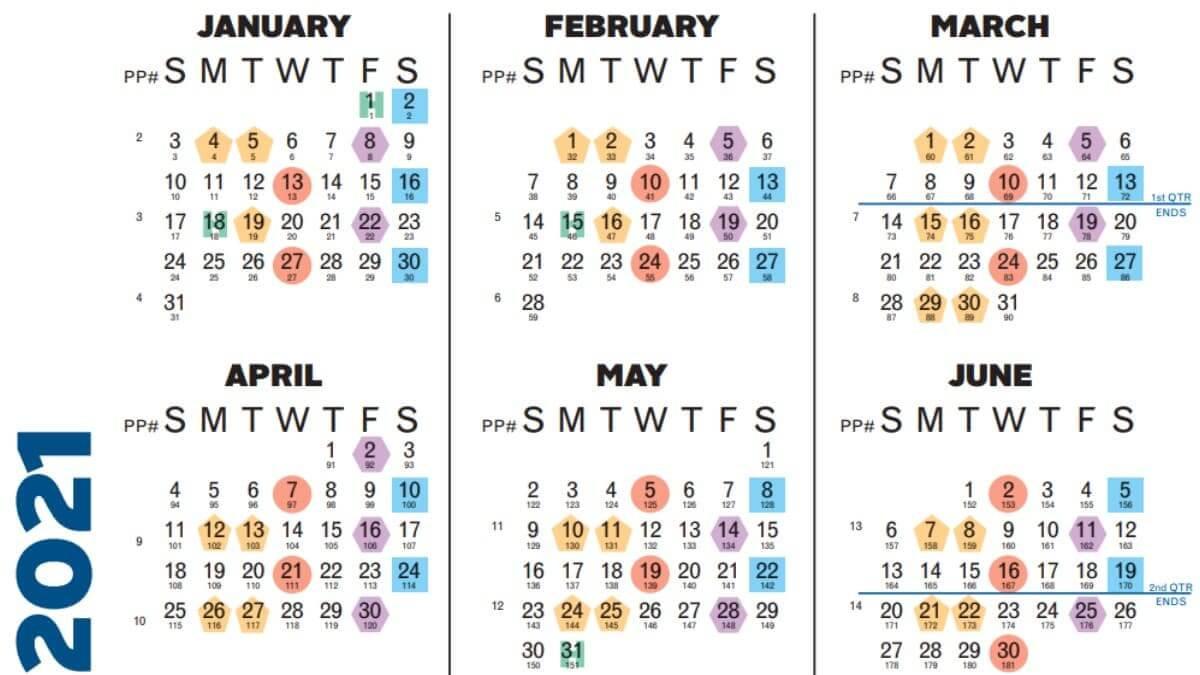 Payroll Calendar 2021 - Business  Federal Payroll Calendar 2021