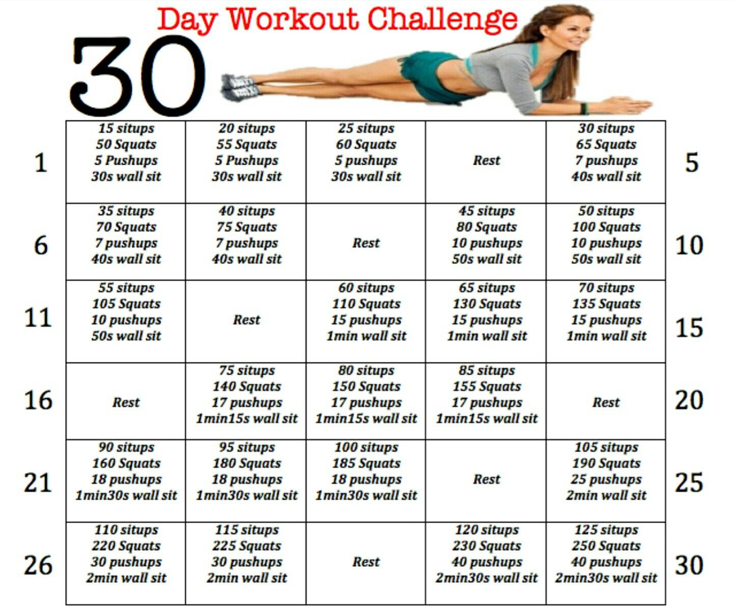 Pindiana Frazier On 30 Day Challenges | Fitness  30 Day Fitness Calendar