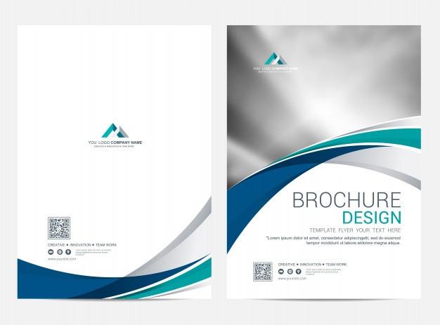 Premium Vector | Brochure Template Flyer Design Vector  Front Page Of Water Challenge Template Free
