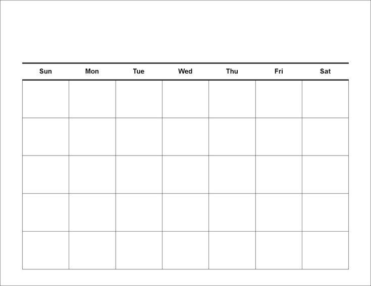 Printable 5 Day Monthly Calendar | Weekly Calendar  Blank 5 Day Calendar Printable Free