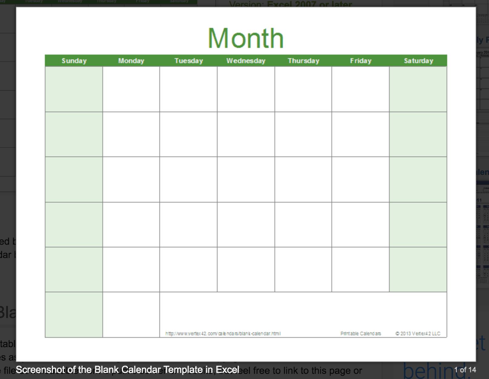Printable Blank Calendar Templates  Free Printable And Editable Weekly Calendar