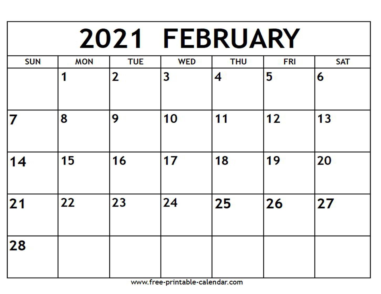 Printable Calendar 2021  Full 2021 Printable Calendar