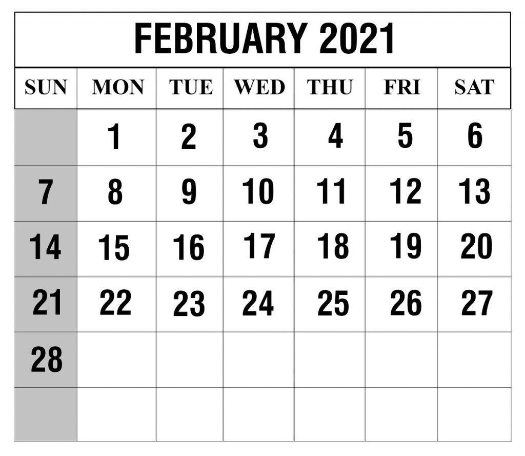 Printable Childrens February 2021 Calendar   Printable March  February 2021 Calendar