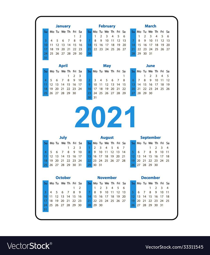 Printable Pocket Calendar 2021 | Calendar Printables Free  Printable Pocket Calendar 2021