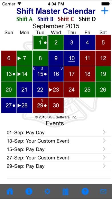 Shift Master Shift Calendar App Data & Review  Color Shift Calendar