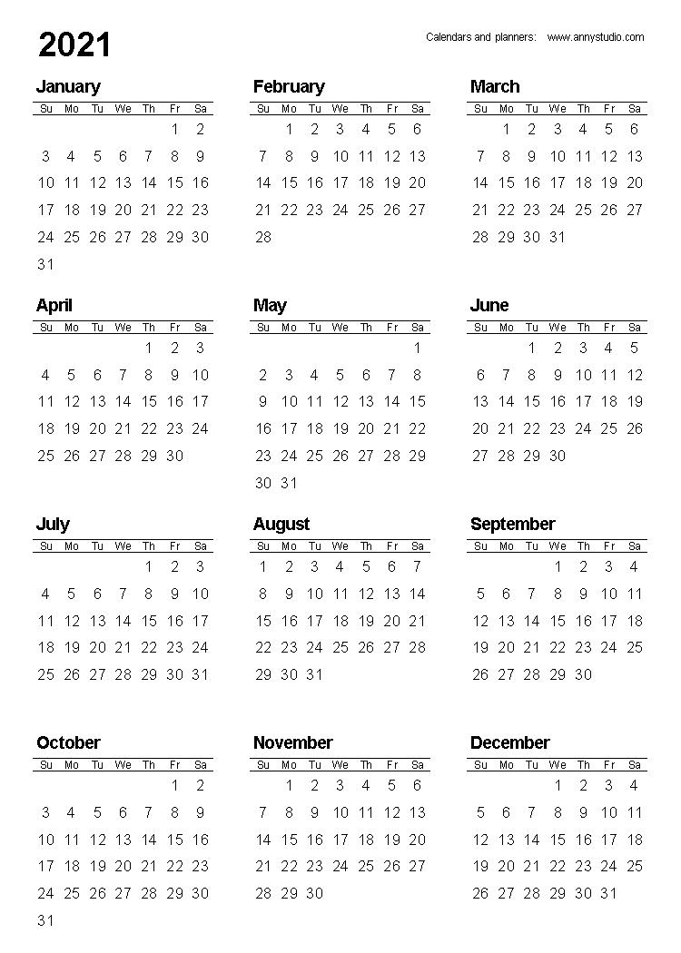 Take Printable 2020 Pocket Calenders | Calendar Printables  Printable Pocket Calendar 2021