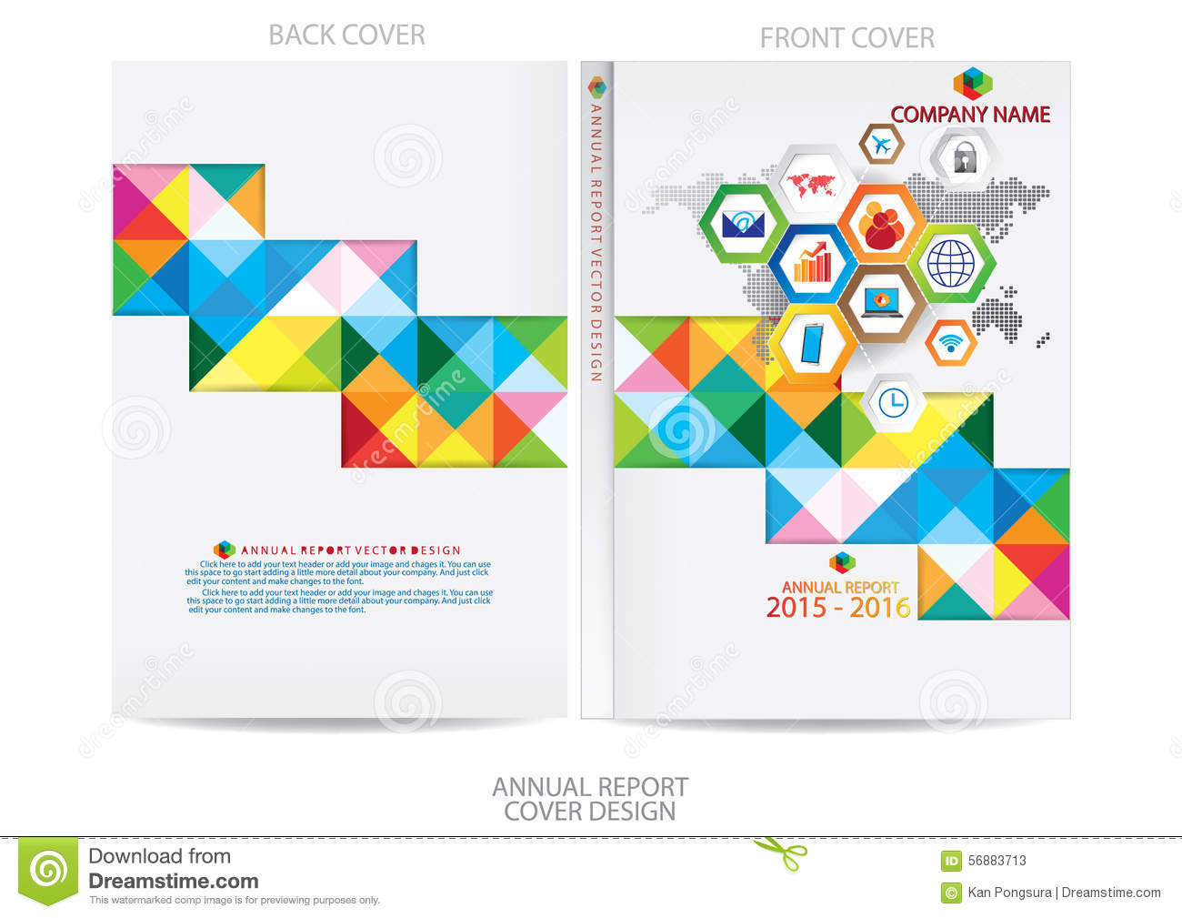 Template Report Cover Design Stock Vector - Illustration  Front Page Of Water Challenge Template Free