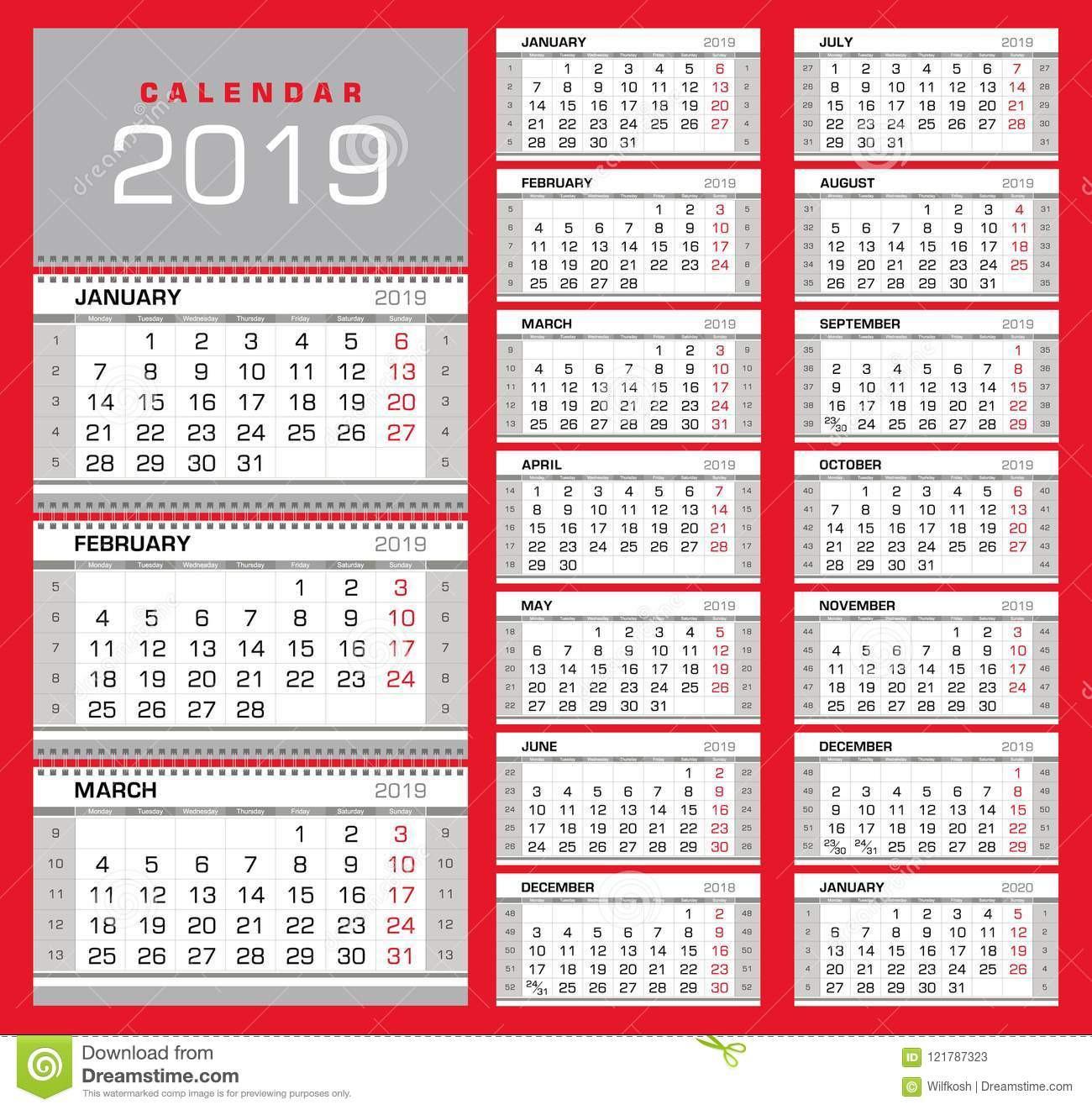 Wall Calendar Print Out Showing Week Numbers | Example  Weeknum Calendar