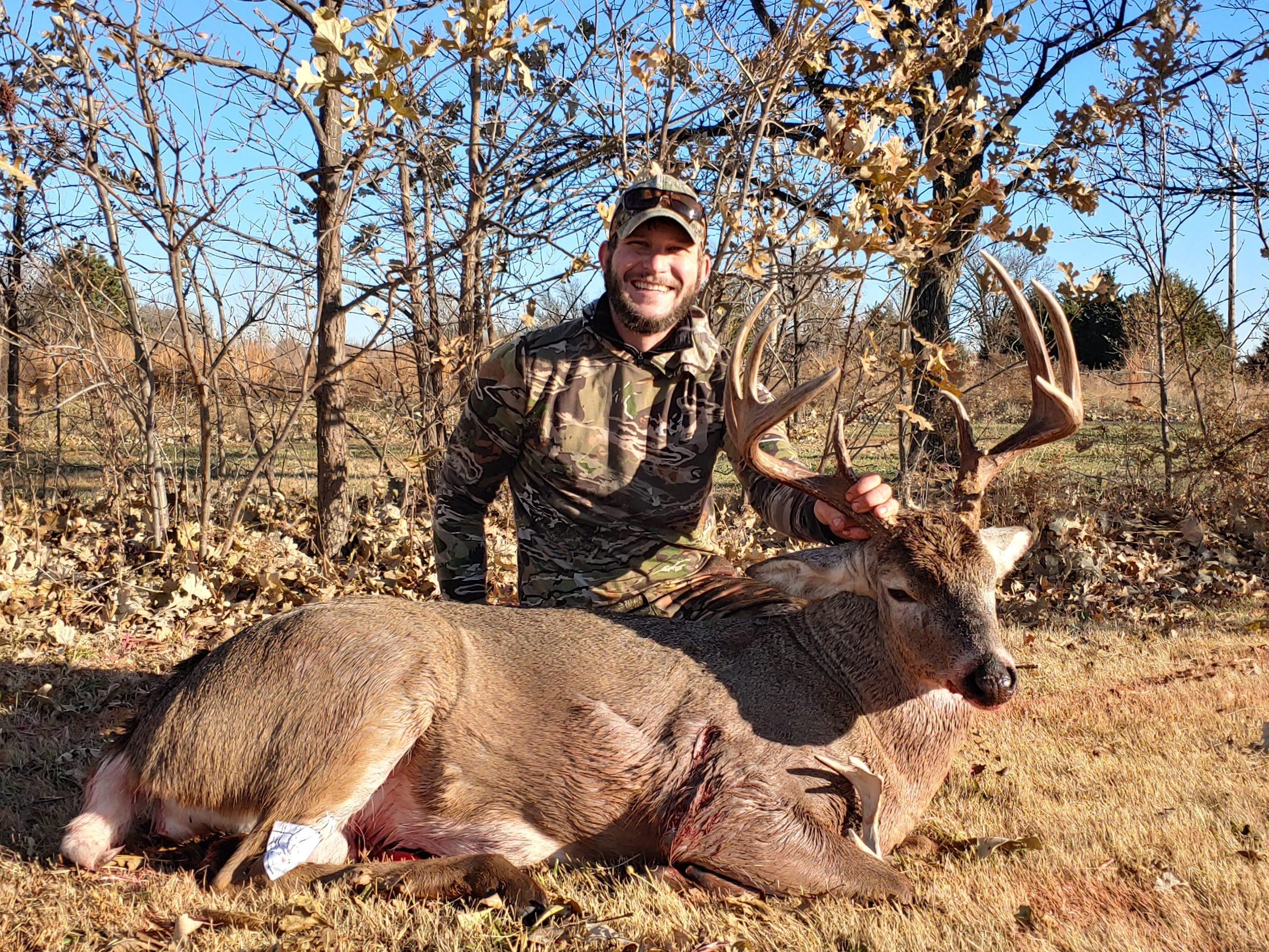 Whitetail Buck In South Central Kansastyson Groene  Brookville Ks 2021 Deer Rut