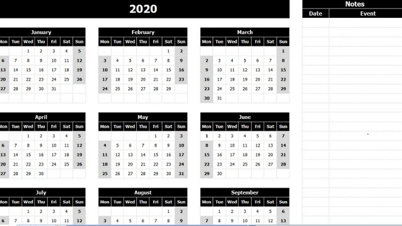 Year Calendar With Notes | Ten Free Printable Calendar  2021 Yearly Calendar Printable Free With Notes